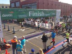Finish Line at the Memorial Marathon! #OKC