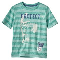 Boys 4-7x SONOMA Goods for Life™ Endangered Animal Striped Tee, Size: 7X, Brt Green