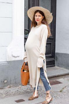 Blogger Outfit Inspiration  Jessies neuer Look für Schwangere im Sommer mit  einem Maxikleid, Jeans 251011ae1f