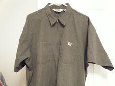 5ad0c64324b0b Vintage Ben Davis Charcoal Heather Grey 1 2 Zip Shirt