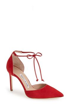Free shipping and returns on Manolo Blahnik Ankle Tie d'Orsay Pump (Women) at Nordstrom.com. An alluring d'Orsay pump shaped with a low-cut topline and a pretty pointed toe features skinny ties at the ankle and a slender setback heel. ALSO AT NEIMAN MARCUS