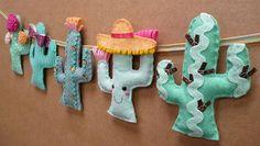 Felt cactus garland