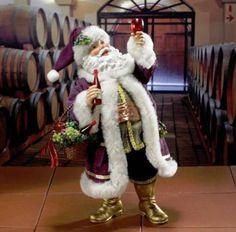 Kurt Adler Vino Santa Figurine