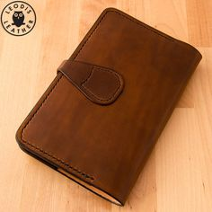 Leather Moleskine Cover (9x14cm Notebook, Walnut)