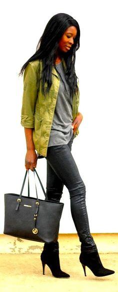 Styles By Assitan Lime Denim Jacket Fall Inspo