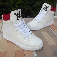 GS15-8,New Arrival Fashion Men's High Style Shoes Male Special Logo Sneakers Black White Hip Hop Men Shoes Height Increased