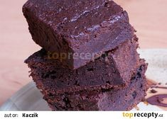 Brownies z červené řepy recept - TopRecepty.cz Brownies, Food And Drink, Cooking, Desserts, Recipes, Fitness, Cake Brownies, Kitchen, Tailgate Desserts