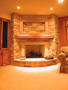 and incredible fireplace is a must have