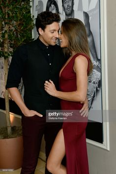 Zack Kalter (L) and model Helen Owen attend the Daily Front Row's 3rd Annual Fashion Los Angeles Awards at Sunset Tower Hotel on April 2, 2017 in West Hollywood, California.
