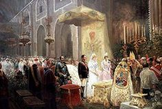 Alfonso XIII and Victoria Eugenia Wedding Vows 1906 by Jua…   Flickr
