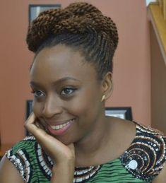 Novelist: Chimamanda Adichie in Afro Kinky Twist cornrows