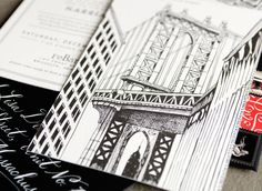 #Swisscottagedesign #Drawing Black Ink #Invitation