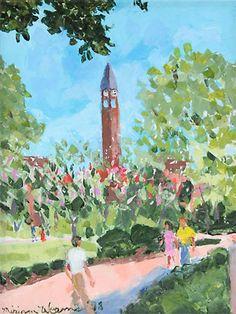 The Millsaps College Belltower by Miriam Weems, Jackson, Mississippi