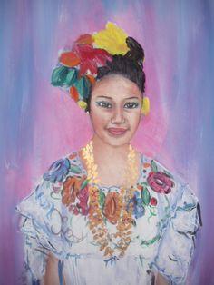 Dancer Veracruz, painted by Jesus Sepulveda