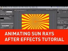 Animating Sun rays in After Effects Tutorial - YouTube