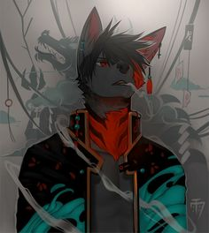 Furry Oc, Anime Furry, Anime Wolf, Rpg Cyberpunk, Funny Drawings, Anthro Furry, Anime Animals, Animal Sketches, Furry Art
