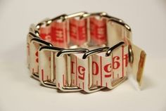 Red & White Tape Measure Bracelet  by HomeMadeKarma on Etsy, $8.00