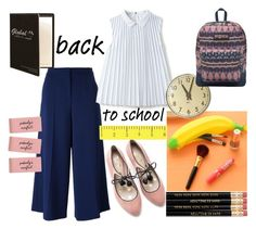 """""""Back-to-school"""" by kirillina-nadia ❤ liked on Polyvore featuring Boutique Moschino, Boden, Lacoste, JanSport, BackToSchool, shool and polyvoreset"""