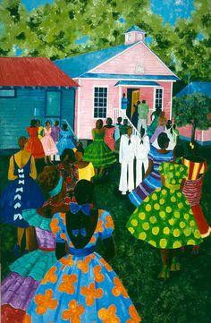 church-Jonathan Green - artist from Yemassee SC - LOVE HIS ART!
