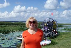 Airboat ride at the source of the Everglades near Orlando, Florida