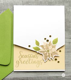 Jennifer McGuire: Sunny Studio Petite Poinsettia and Festive Greetings stamp sets; Video--Partial Die-Cutting