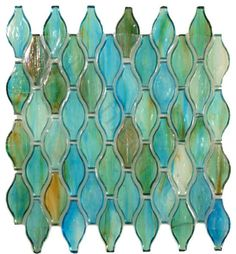 These beautiful Clear Turquoise Unique Shapes (Green 1 x Glossy Glass) Tiles are fabulous and remind me of the colors of the sea They would look great as a kitchen backsplash Iridescent Tile, Beach House Kitchens, Mosaic Tiles, Glass Tiles, Stone Mosaic, Teal Tiles, Mosaic Art, Green Turquoise, Turquoise Glass
