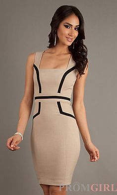 Fitted Short Sleeveless Dress by XOXO at PromGirl.com