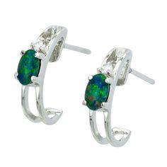 AUSTRALIA OPAL - Opal Earrings (E2200SB), $110.00 (http://www.australiaopal.com.au/opal-earrings-e2200sb/)