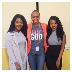 Woot! Congrats to @mgsshaw and her daughters @glamtwinken2 @glamtwinkels1 on another successful TV promo for their book #glamtwinzguide.  We spy our #ButGod tee. Thanks for taking us along Josenca  #vrcrew