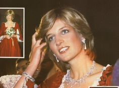 Diana's Qatar Pearl and Diamond earrings (wedding gift from the Emir of Qatar)