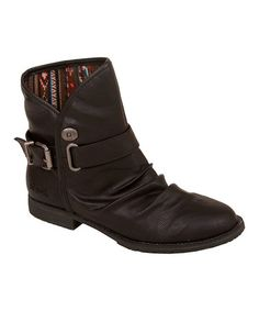 Take a look at this Black Old Saddle Treble Ankle Boot on zulily today!