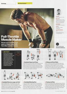 """Muscle Maker"" workout from Tyler English,C.P.T, P.E.S in Men's Health mag. www.brooklynfitchick.com"