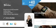 """Furios- Modern Email Template + Online Access . New features and email verison support """"ChampaignMonitor"""" Version Now is included"""