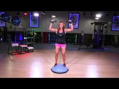 BOSU Ball Squats-I love the bosu, I know its my friend.