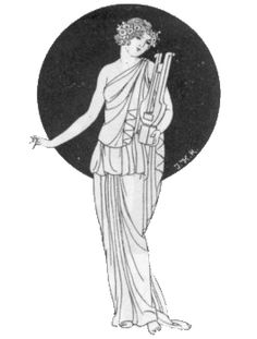 Unknown Artist - Erato, Greek Muse of love poetry, Tags: erato, muses,