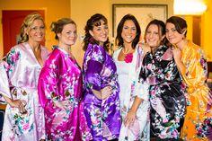 Kimono Style Bridesmaids Robes  | Lora Rodgers Photography | MyNewlywedNest.com