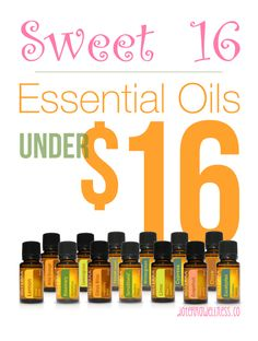 Sweet 16! Essential Oils under $16 that make great gifts! Get your doTERRA oils from me - http://bit.ly/1GvQZ40 #birthday #valentines #christmas #mothersday #birthday