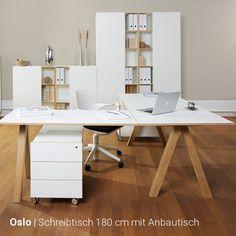 Reinhard - Oslo Eckschreibtisch Kombination Office Decor, Home Office, Ikea Linnmon, Oslo, My Room, Corner Desk, Design Inspiration, Cabinet, Interior
