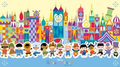 It's a Small World - Disney wallpaper; use in pocket scrapbooking