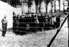 Buchenwald, Germany, New inmates arriving at the camp.