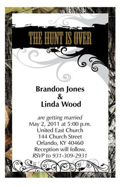 Ideas and stuff needed for camo wedding :  wedding Fancy Camo Wedding Invitation Ebay