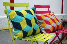 coussin cubes / tuto