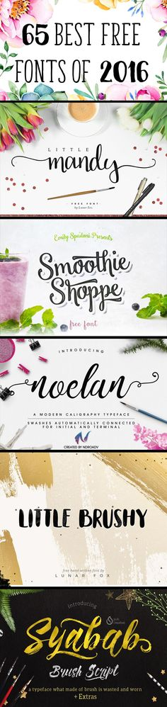 65 Best Free Fonts of 2016! - Free Pretty Things For You