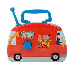 Turn the dial on this Circus Musical Bus to play a happy tune, and watch each character pop up through the window. Size: Age: With circus illustrations and happy tunes, the Les Jouets Metal collection is a joy to have in any home! Circus Music, Circus Theme, Circus Characters, Circus Illustration, Retro Bus, Elephant Parade, Retro Radios, Musical Toys, Activity Toys