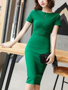 dresses for work Best Of All Pencil Dress Trendy Dresses, Nice Dresses, Dresses For Work, Office Dresses For Women, Dress Work, Classy Dress, Classy Outfits, Classy Chic, Chic Outfits