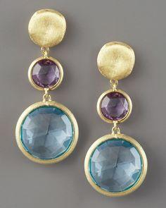 Marco Bicego Jaipur Drop Earrings, Topaz in Blue