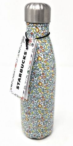 Starbucks 2017 Swell Insulated Water Bottle with Liberty of London Fabrics Art - Blue Green