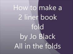Book Folding Multiline Instructions - YouTube