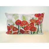 Found it at Wayfair - Poppies Rectangle Indoor/Outdoor Pillow in Red