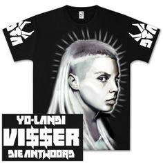 Die AntwoordT-Shirts   Die Antwoord Yo Landi Airbrushed T-Shirt Shop the Die Antwoord Official Store